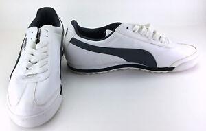 Puma Shoes Roma Basic Retro White/Black Sneakers Size 10