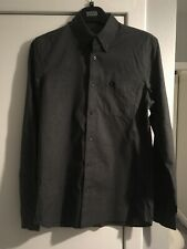 Fred Perry Charcoal Gingham Shirt Size S