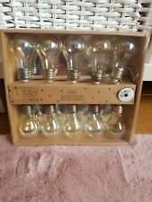 Light Bulb String Lights Battery Operated Warm White