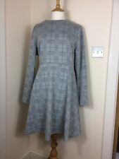 Brand New M&S Dress Size 16 M&S Collection Grey Checked Winter Work Smart Wear