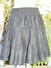 Black Layered SKIRT Shirred Waist Size 12 NEW RRP$49.99