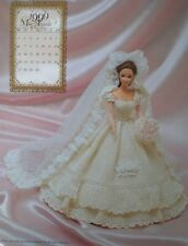 Annie's Attic 1999 Bridal Dreams Barbie Fashion August Crochet Bed Doll Pattern