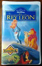 The Lion King - El Rey Leon (VHS, 1995, Spanish Dubbed) *NEW* Disney En Espanol