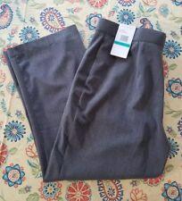 Sag Harbor Women's Dress Pants Size 16PS Stretch Slender Solution Grey
