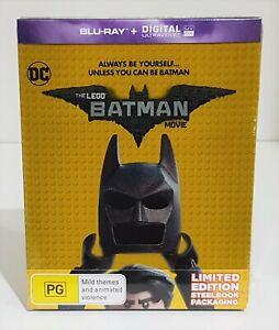 The Lego Batman Movie Limited Edition Steelbook Blu-ray - Brand New & Sealed