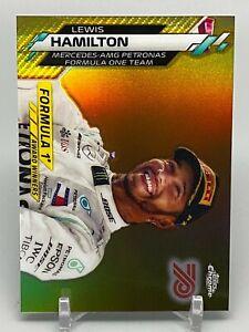 2020 Topps Chrome Formula 1 - Gold 70 - Lewis Hamilton - #197