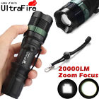 Ultrafire Tactical 15000LM Zoomable T6 LED Flashlight 18650 Torch Bright Light