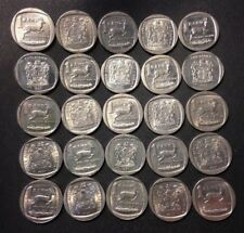 Old South Africa Coin Lot - ONE RAND - 25 Great Coins - FREE SHIPPING