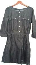 Ladies BC Clothing Denim Tunic Dress Black Grey Size S