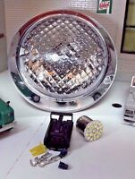 Toylander Land Rover Series 1/2 Scale Headlamp LED Chrome Trim Complete Unit
