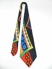 Gorgeous Vitaliano Pancaldi Silk Tie Italy Vibrant Abstract Necktie