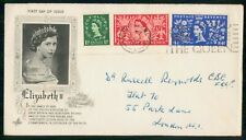 Great Britain 1953 Queen Elizabeth Ii Coronation Royalty Art Craft Cover Wwh8556