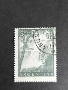 Argentina Stamp 1955 iguazu falls 5 pesos. VGU
