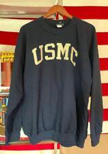 Vintage USMC US MARINE CORPS 50/50% Cotton/ Poly MV Brand Blue Sweatshirt.