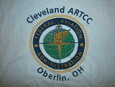 vtg FAA FEDERAL AVIATION ADMINISTRATION T SHIRT Cleveland Oberlin Pilot Airplane
