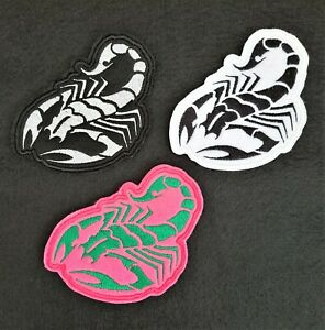Scorpion Embroidered Patch Badge Iron on or sew on