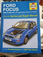 Ford Focus Haynes Service Manual  Petrol & Diesel S To Y Reg 1998 To 2001