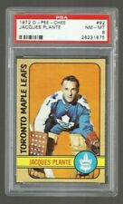 1972 O-PEE-CHEE HOCKEY #92  JACQUES PLANTE  HOF   PSA 8 NM/MT  MAPLE LEAFS  NHL