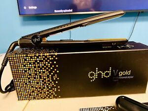 "NEW Gold GHD Professional 1"" Ceramic Styler Classic Flat Iron"