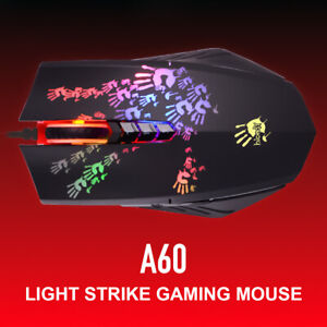 A4Tech Bloody A60 Black Gaming Optical Mouse, USB, RGB, 4000DPI