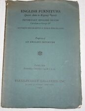 English Furniture Queen Anne, PARKE-BERNET GALLERIES, NY 1940 Catalog #219