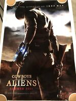 COWBOYS VS. ALIENS Original Movie Poster 27X40 DS/Rolled - 2011