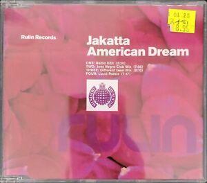 Ministry of Sound Jakatta American Dream CD Single