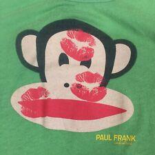 Paul Frank Julius Monkey Tank Top Shirt Juniors Womens Small Kiss Hearts Green