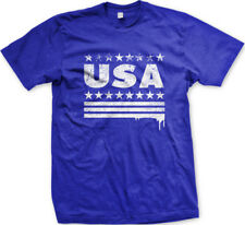 USA Spray Paint Stars Stripes Dripping United States America US Of Men's T-Shirt