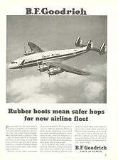 1950 B. F. Goodrich Ad Capital Airlines Lockheed Constellation De-Icer Boots