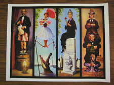 Vintage Disney ( Mansion Stretching Room ) T1 Collector's Poster Print - B2G1F
