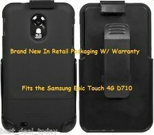 Seidio Surface Combo Case W/ Clip For Samsung Epic Touch 4G D710 Sprint Black