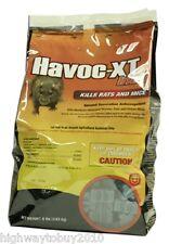 (4) bags Havoc Xt 116362 8 lb Rat and Mice Blok Pouch Poison