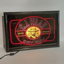 Vintage 90s CJ Wray Rum Sign Light Up Box