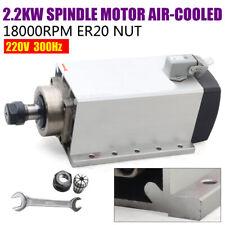 Cnc Square 22kw Air Cooled Spindle Motor 22kw Vfd Er20 Collet