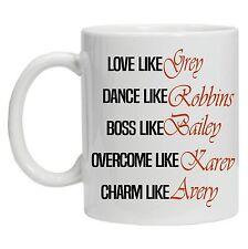 Grey's Anatomy Inspired TV Show 2 - funny mug, coffee Tea mug, office mug, gift