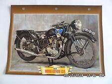 CARTE FICHE MOTO MONET GOYON LS4 1935