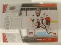 2013-14 Upper Deck Series One UD Game Jersey Craig Anderson #GJ-CA