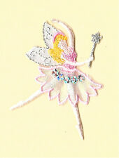 Fairy - Dance - Pink W/ Wand Metallic Embroidery/Sequins Iron On Applique Patch