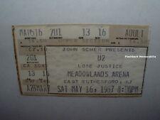 U2 / LONE JUSTICE SAT 5-16 1987 Concert Ticket Stub MEADOWLANDS Joshua Tree RARE