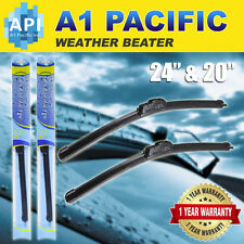 "All season Bracketless J-HOOK Windshield Wiper Blades OEM QUALITY 24"" & 20"""