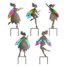 Gartenfee Gartenstecker Fee Elfe Deko Bodenstecker Metall-Figur mit Glasflügeln