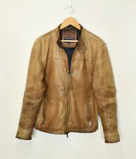 Vintage Tommy Hilfiger Brown Leather Bomber Jacket Medium