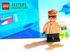Custom Lego Dexter's Lab minifig w/ Dexter secret formula Erlenmeyer flask