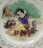 LENOX DISNEY SNOW WHITE DESSERT PLATE SNOW WHITE AND HER FOREST FRIENDS