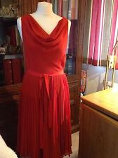 Stunning red low back cocktail dress full skirt Phase eight generous 10