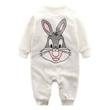 Bugs Bunny Baby Jungen Langarm Overall Strampler Babyanzug Gr. 50/56 neugeboren