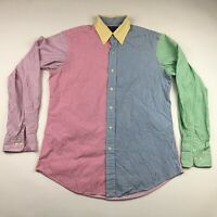 Ralph Lauren Mens Color Block Multicolor Long Sleeve Striped Button Down Shirt M