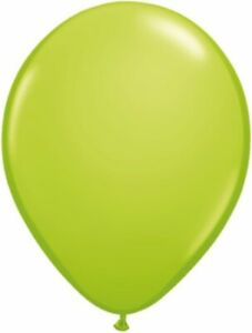 """11"""" Qualatex Lime Green Latex 25 Count Balloons Party Supplies"""
