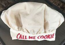 """Call Me Cookie� True Vintage Chef's / Cook's Hat Sz L. Nwot"